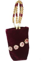 Arisha Kreation Co Smart Flower Motif With Mirror Design Mobile Cover Pouch Potli Maroon