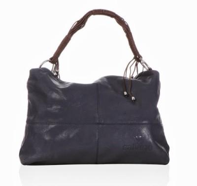 Calvino Calvino Spacious Shoulder Bag (Blue)