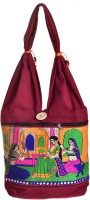 Kwickdeal Special Raani Daasi Hand Embroidered Shoulder Bag (Red)