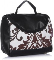 Home Heart Cosmetic Case Hand-held Bag - White Brown