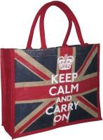 Earthbags Keep Calm Hand-held Bag - Beige