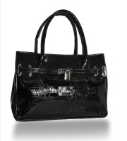 Moda Desire Zohra Croc Hand-held Bag - Black-05