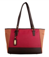 Toteteca Bag Works Tricolor Shoulder Bag (Maroon)