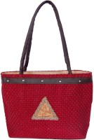Womaniya Handicraft Jute Shoulder Bag (Red)