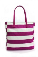 Carry On Bags Nautical Stripe Hand-held Bag - Purple