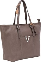 Valentino Valentino Genuine Leather Grey Color Medium Size Womens Hand Bag Tote Grey