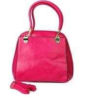 Just Women Faux Leather Tote Messenger Bag Pink