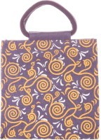 Jute Cottage All Over New Print Hand-held Bag (Purple)