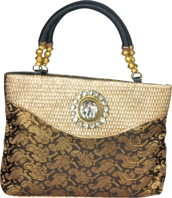 Freddys Ethnic Stone Work Hand-held Bag - Black
