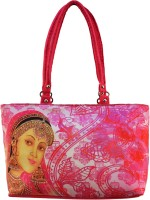 Shilpkart Traditional Digital Print Hand-held Bag (Pink)