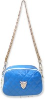 Hi Look Self Textured Sling Bag Blue-01