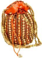 Mpkart Bhopali Golden Pouch Potli Orange
