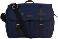 Justanned Canvas & Leather Men's Cross Body Messenger Bag - JTMB 049-1-Blue