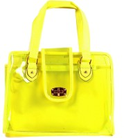 Watercolour Yellow Transparent Bag Hand-held Bag - Yellow-08