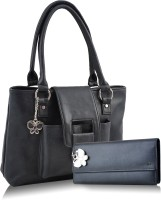 Butterflies Trendy Hand-held Bag - Black