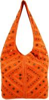 Shilpkart Hand Mirror Work Shoulder Bag (Orange)
