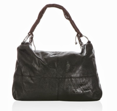 Calvino Calvino Spacious Shoulder Bag (Black)