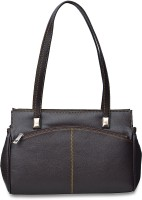 Arshia Smart With Front And Back Zip Shoulder Bag (Black)