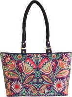 Shilpkart Digital Tribal Floral Printed Hand-held Bag Blue