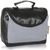 Home Heart Cosmetic Case Hand-held Bag (Black, White)
