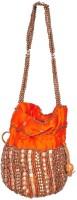 Domestiq Beads Sequins Pouch Potli (Orange)