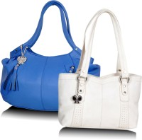 Butterflies Trendy Hand-held Bag - Blue, White