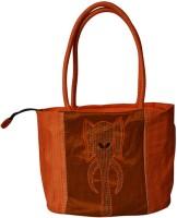 Indha Craft Ganesh Hand-held Bag - Orange-12