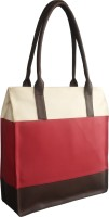 Toteteca Bag Works Colorful Shopper Shoulder Bag (Cranberry)