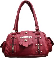 SkyWays Embezzled Studs Hand-held Bag - Red-01