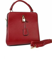 Just Women Trendy Pu Leather Hand-held Bag Red-43