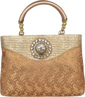 Freddys Ethnic Stone Work Hand-held Bag - Beige