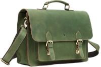 WildHorn Genuine Hunter Leather 56 Messenger Bag Green