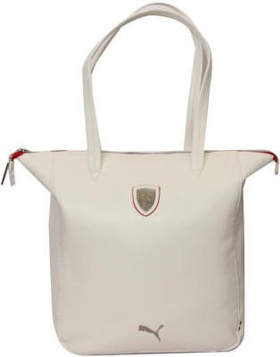 Puma Ferrari LS Shopper Shoulder Bag White