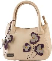Klasse Genuine Leather Women Hand-held Bag Beige