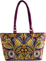 Shilpkart Digital Tribal Floral Printed Hand-held Bag Purple