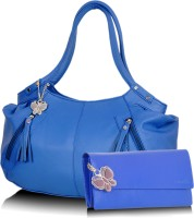Butterflies Trendy Hand-held Bag - Blue, Blue