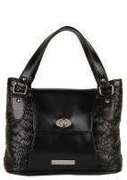Lino Perros LWHB01715 Hand-held Bag Black