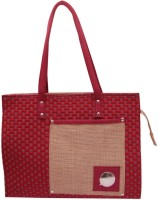 Womaniya Handicarft Jute Shoulder Bag (Red)