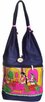 Kwickdeal Special Raani Daasi Hand Embroidered Shoulder Bag (Blue)