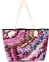 Samsara Cotton Bird Feather Printed Hand Bag - Multi-color - HMBDUYDACGM5HVYP