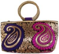 Bhamini Double Bangle Multicolor Mango Design Hand-held Bag Blue-01
