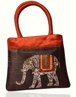 Indha Craft Elephant Print Hand-held Bag - RED-02