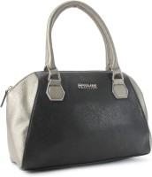 Kenneth Cole Reaction Satchel Hand-held Bag (Metallic And Black)