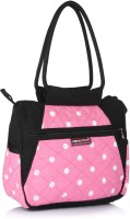 Home Heart Cute And Classic Hand-held Bag - Pink & Black