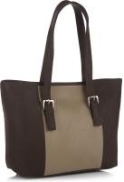 Alessia74 Hand-held Bag Dk Brown, Beige