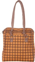Jute Cottage Burfi Print Shoulder Bag (Mustard Brown)