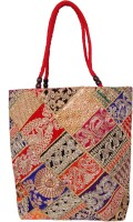 Womaniya Handicraft Ehnic Embroidery Patches Work Shoulder Bag Red