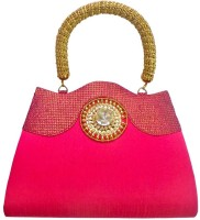 Bhamini Antique Handle Ethnic Hand-held Bag - Pink-01