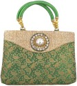Freddys Ethnic Stone Work Hand-held Bag - Green