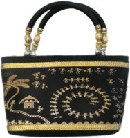 Bhamini Digital Print Hand-held Bag - Black-01